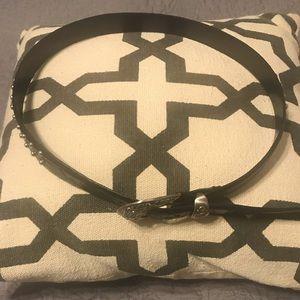 Izod black leather belt with stud details. Size S